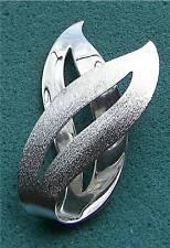 """SATIN FLAME"" Silver Tone Pin - Sarah Coventry Jewelry - Sara Cov - Vtg"