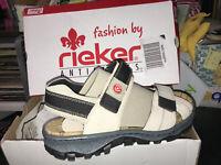 NEW Rieker Outdoor Sandals Women Antistress beige Velcro Water Shoe 68851-60 Box
