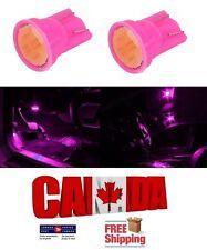 2pcs COB Pink Purple LED T10 194 158 168 912 Map Dome License Plate Light Bulb