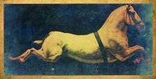 Vintage Horse A1 High Quality Canvas Print