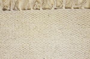 100% Cotton plain woven rugs 2 sizes Large sizes, Cream, Grey, Oatmeal, Denim