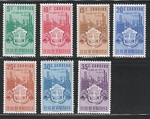 Venezuela   1951   Sc # 464-70   Carabobo   MNH   XF   (55489)