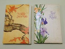 TWO VINTAGE CURRENT, INC. STATIONARY SETS ~JUST A NOTES & WILDLIFE JUST A NOTES