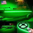 Wireless 16 Ft Green Led Strip Kit For Boat Marine Deck Interior Lighting
