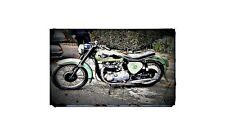 1962 bsa a7 ss Bike Motorcycle A4 Retro Metal Sign Aluminium