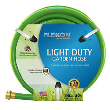 FLEXON 5/8-in x 50-ft Tough Weather-Resistant Vinyl Cover Light Garden Hose, NEW