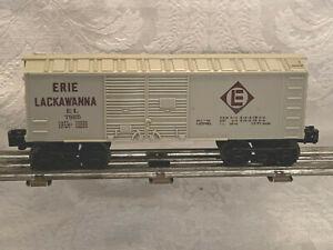 Postwar Lionel Train (1986) O Scale Erie Lackawanna Dbl Door Boxcar EL 7925 Gray
