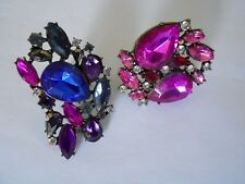 SALE Multi-coloured Crystal / Rhinestone Rings x2 was $20 NOW $15