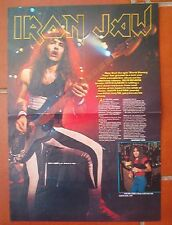 """IRON MAIDEN Steve on and off stage Centerfold magazine POSTER  17x11"""""""