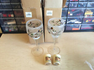 2 New Yankee Candle Tall Votive Holder Stem Large Pinecone Crackle Glass Winter