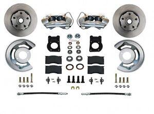 1963-69 Ford/Mercury Leed Brakes Front Disc Brake Conv (wheel kit; plain rotors)