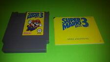 Super Mario Bros, 3 + Instruction manual - Nintendo 8 bit NES