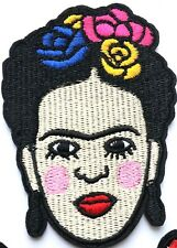 Frida Kahlo Flowers Patch Quality Iron On Embroidered Art Mexico