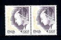 ITALIA REP. - 2002 - Donne nell'arte 0,03 € - Piero della Francesca coppia mnh