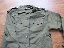 vietnam shirt,rip stop,100% cotton,1975 , dead stock, women size 20= mens small