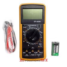 DT-9205A POLIMETRO MULTIMETRO DIGITAL ENVIO 24-48HS VOLTIMETRO TESTERCON CABLES