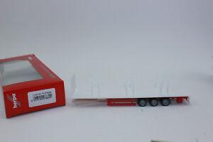 Herpa 076845 Lowliner Lit Plat Semi-Remorque 3-achs 1:87 H0 Neuf Dans Emballage