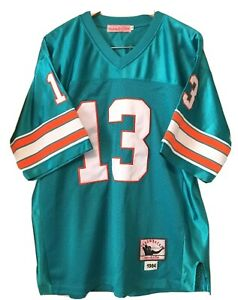 DAN MARINO 50 MIAMI DOLPHINS MITCHELL NESS 1984 THROWBACKS JERSEY COLLECTION 50