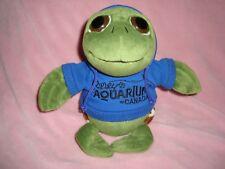 "Ripley's Aquariums Canada the Petting Zoo Plush Turtle in Blue Hoodie Sweater 9"""
