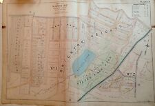 1898 STATEN ISLAND BRIGHTON HEIGHTS E. ROBINNSON ORIGINAL ATLAS MAP  22X32