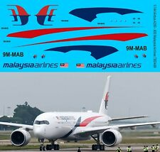 1/144 Decals for Airbus A350 900 Malaysia Airlines Livery TB Decal TBD499