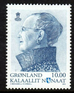 Greenland 2013 Queen Margrethe II Definitive 10K, Blue Grey, UNM / MNH