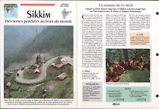 Sikkim सिक्किम Denzong Inde India Asia Geography Géographie FICHE FRANCE