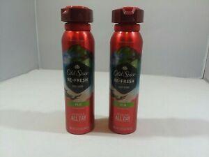 Old Spice Fresh Refresh Fiji Body Spray deodorant  2 Bottle Pack Discontinued