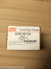 new REX 863SS-MO-CLK STAINLESS STEEL TABLE TOP CHAIN MASTER LINK BOX OF 25