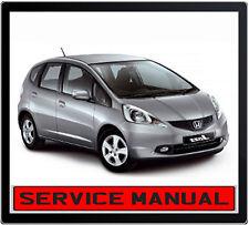 HONDA JAZZ 1.3L 1.5L i-VTEC 2008-2012 REPAIR SERVICE MANUAL IN DVD