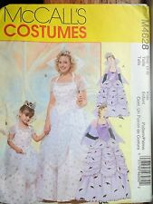 4628 McCall Halloween pattern girl fairy princess good witch costume uncut 3-8