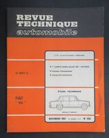 REVUE TECHNIQUE AUTOMOBILE RTA FIAT 124 SALON 1967 n°259