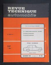 REVUE TECHNIQUE AUTOMOBILE RTA FIAT 124 SALON 1967 n°259