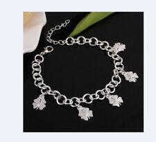 Armband Kleeblatt Silberarmband Armkette Damen Glücksbringer