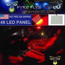 1x Super Bright Red 48 LED Panel Light for Dome, Map, Cargo, Trunk lights #48PR