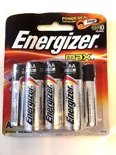 NEW 2 Energizer Battery Max AA 8 Pack Batteries Alkaline VOLT 1.5V E91 lot