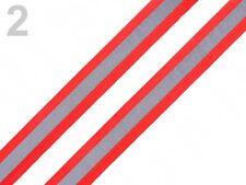 Reflexband Reflektorband rot silber reflektierend Band Zierband  26mm breit