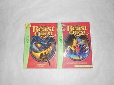 "Lot de 2 Beast Quest ""Chaudron magique"" & ""Dragon de feu"" Bibliotheques Verte"
