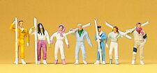 Preiser 10316 H0, Wintersportler, 7 Figuren, handbemalt, Neu