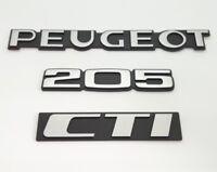 ⭐🇫🇷NEUF KIT 3 MONOGRAMMES PEUGEOT 205 CTI CABRIOLET VERSION ORIGINE LOGO BADGE