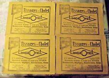 4 Ancien Grand Buvard Tissages de Cholet LingeOtel Linge Pour Hotel 33x25cm 1930