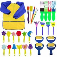 Paint Sponges for Kids - 29 pcs of fun Paint Brushes for Toddlers