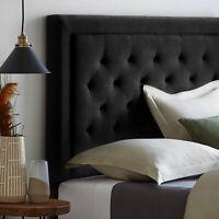 King/California King Headboard Black Upholstered Diamond Tufted Bed Headboard