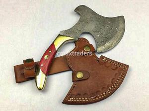 Handmade Damascus Steel Axe Cleaver Cutter rb1017