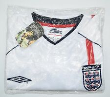 2001 ENGLAND VS GERMANY UMBRO HOME FOOTBALL SHIRT (SIZE XXL)