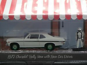 2020 GREENLIGHT 1972 CHEVROLET RALLY NOVA HOBBY SHOP 9 GREEN MACHINE CHASE