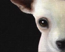 8x10 CHIHUAHUA Head Art PRINT Signed Dog Art of Original Painting Artwork VERN