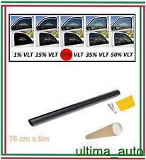 PELLICOLA OSCURANTE PER VETRI AUTO NERO 20% DARK BLACK 76cm x 6m / 76cm x 600cm