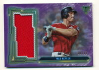 MAX KEPLER 2020 TOPPS TRIPLE THREADS GAME-USED JERSEY RELIC #06/27 AMETHYST