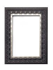 Ancho Antiguo Clásico barrido IMAGEN, marco de fotos negro envejecido plata EDGE